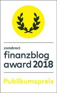 Finanzblog Award Publikumspreis Nominierung