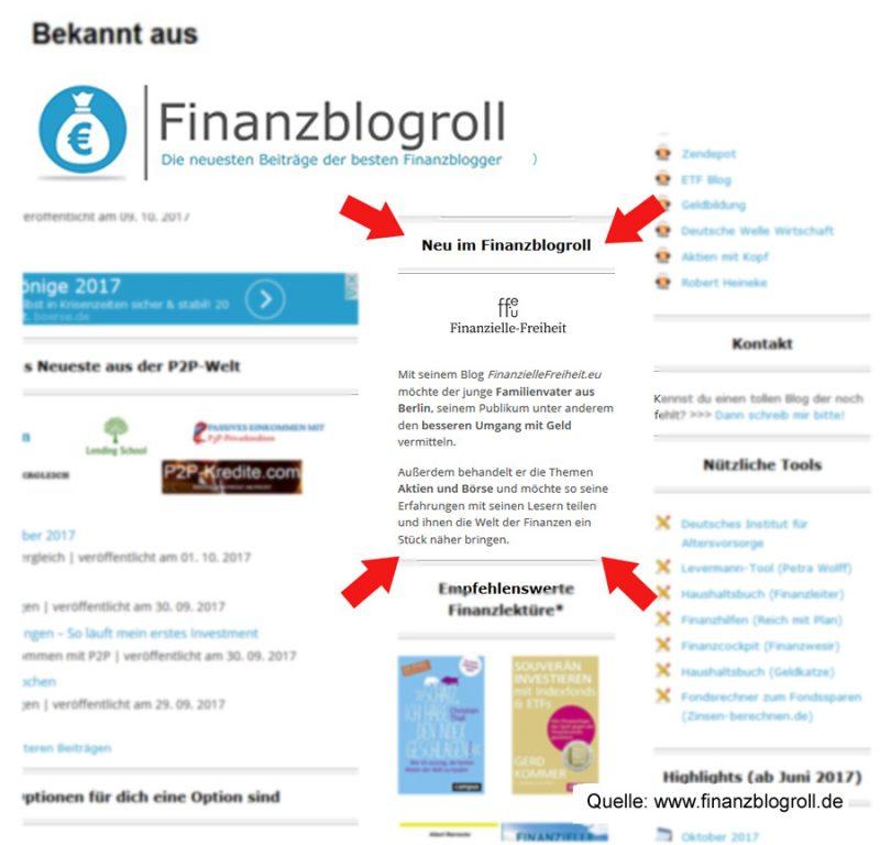 Finanziellefreiheit.eu Blog bei Finanzblogroll