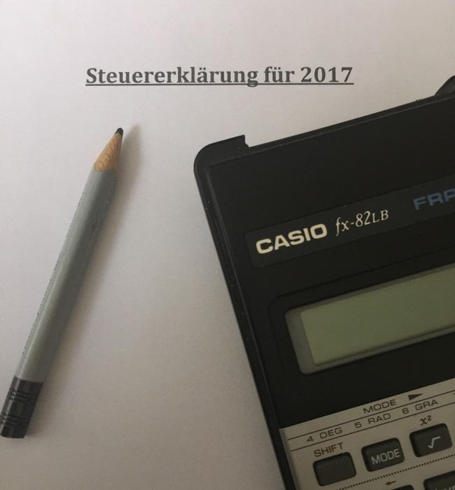 Steuererklärung für 2017