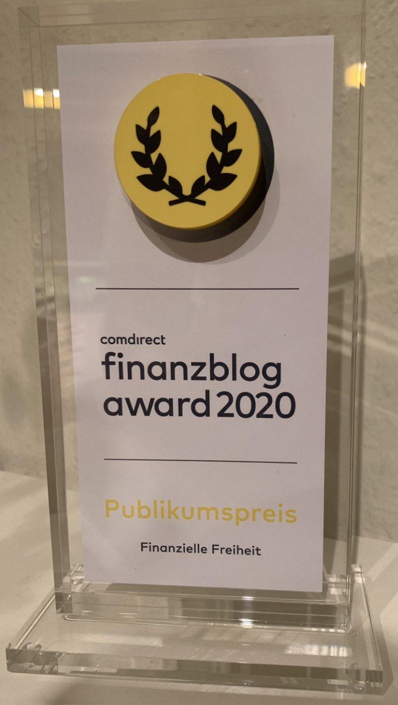 Finanzblog Award 2020 Publikumspreis